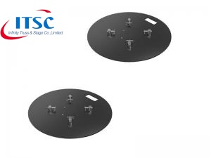 Dia 600 MM Black Truss Round Steel Base Plate