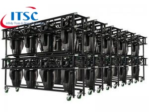 Heavy Duty Black Pre-rig moving light truss dengan sertifikat TUVE