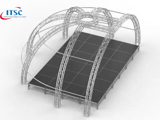 stage truss roof