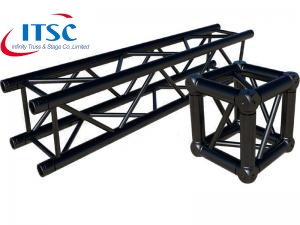 10 Inch Aluminium Metal Stage Frame Black Truss Rigging