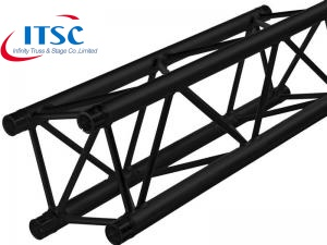 black powder coat truss