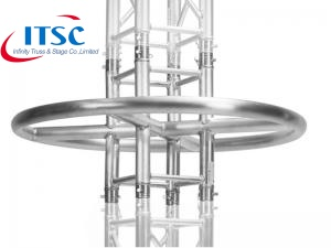 China Circular Lighting Truss Top Ring Rig Tower Untuk DJ