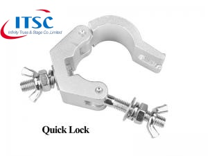Aluminium Half Swivel Lighting Truss Clamp Untuk 30mm